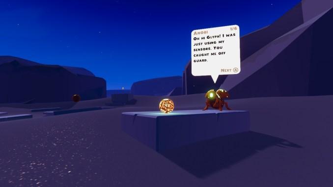 """Das Bild zeigt eine Szene aus dem Spiel """"Glyph""""."""