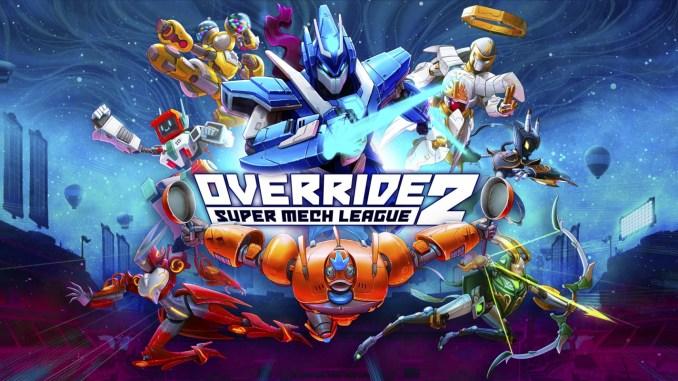 """Das Bild zeigt das Logo von """"Override 2: Super Mech League""""."""