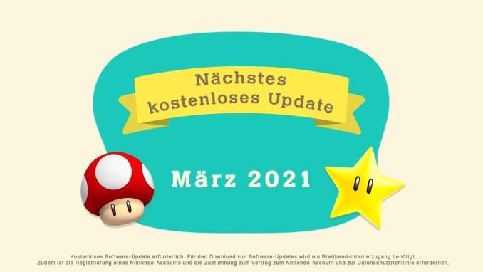 """Das Bild zeigt doe Ankündigung des nächsten Updates von """"Animal Crossing: New Horizons""""."""