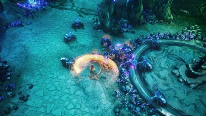"""Das Bild zeigt das Kampfgeschehen in """"Batora: Lost Haven""""."""