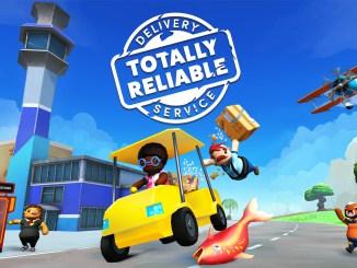 """Das Bild zeigt das Logo des Spiels """"Totally Reliable Delivery Service""""."""