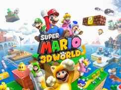 """Das Bild zeigt das Logo von """"Super Mario 3D World""""."""