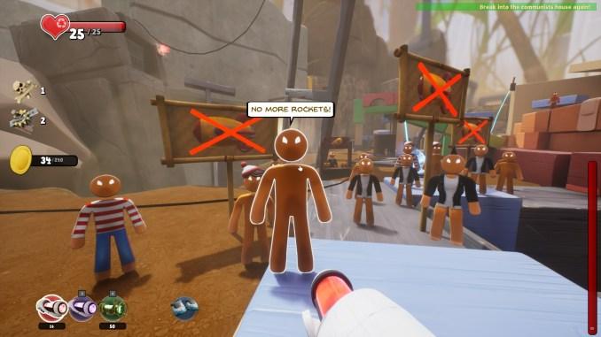 """Das Bild zeigt eine Szene aus dem """"Crash""""-DLC des Spieles """"Supraland""""."""