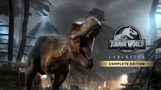 """Das Bild zeigt das Logo der """"Jurassic World Evolution: Complete Edition"""""""
