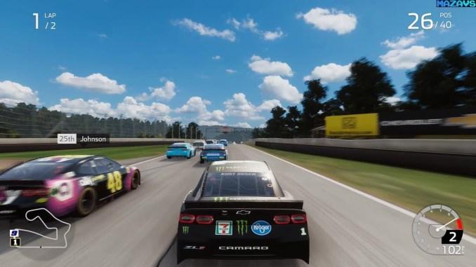 """Das Bild zeigt ein Rennen aus dem Spiel-Franchise """"NASCAR Heat"""""""
