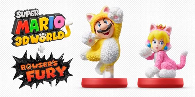 """Das Bild zeigt die neuen amiibo für """"Super Mario 3D World + Bowser's Fury""""."""