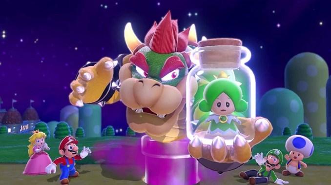 """Das Bild zeigt Boeser mit gefangener Fee in """"Super Mario 3D World""""."""