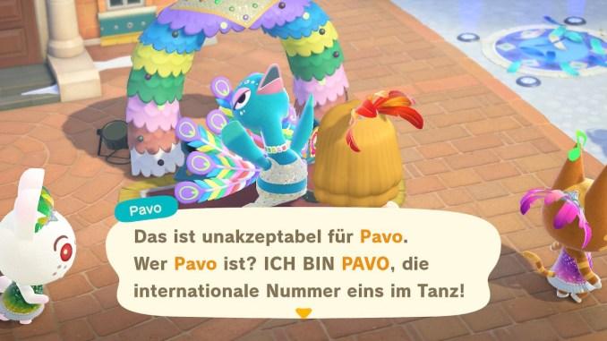 "Das Bild zeigt Pavo in ""Animal Crossing: New Horizons"""