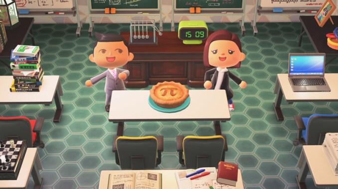 """Das Bild zeigt die Pi Pie vom Update 1.8.0 für """"Animal Crossing: New Horizons""""."""