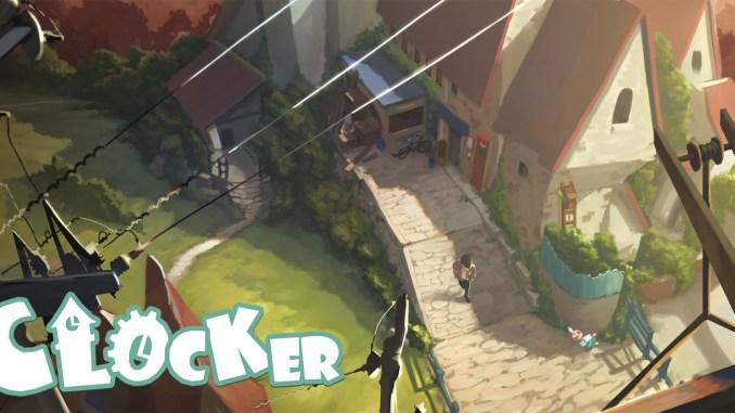 """Das Bild zeigt das Logo des Spieles """"Clocker""""."""