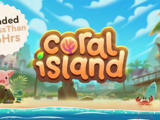 """Das Bild zeigt das Logo von """"Coral Island""""."""