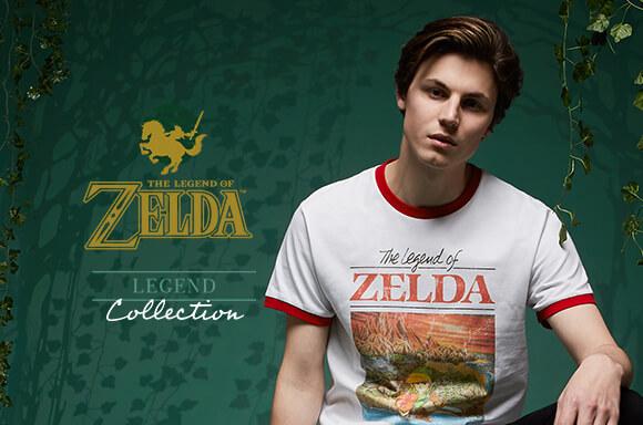 Das Bild zeigt ein Zelda-T-Shirt von Zavvi.