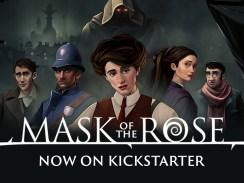 """Das Bild zeigt das Logo des Spieles """"Mask of the Rose""""."""