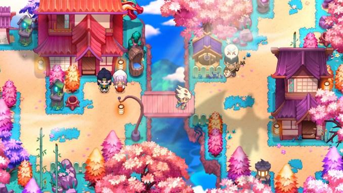 """Das Bild zeigt eine Szene aus dem Spiel """"Nexomon: Extinction""""."""