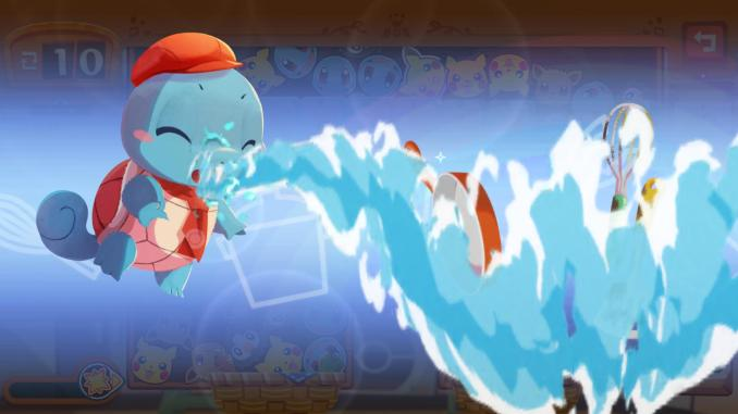 """Das Bild zeigt ein bedienendes Pokémon aus dem Spiel """"Pokémon Café Mix""""."""