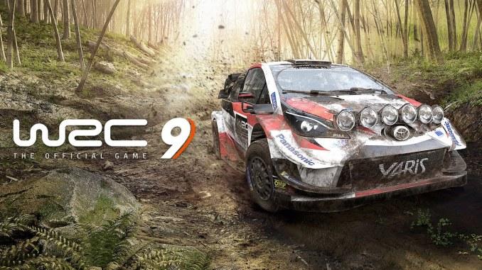 """Das Buld zeigt das Logo des Spieles """"WRC 9""""."""