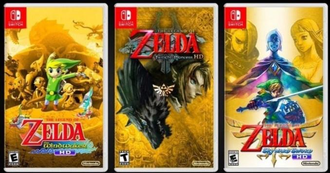 """Das Bild zeigt Fan-Coverart zu den HD-Titeln von """"The Legend of Zelda""""."""