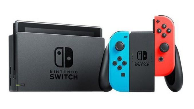 Das Bild zeigt die Konsole Switch der Marke Nintendo