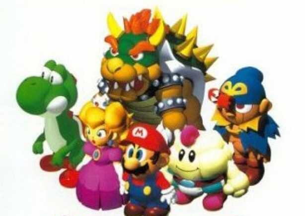 """Das Bild zeigt die Charaktere aus """"Super Mario RPG""""."""
