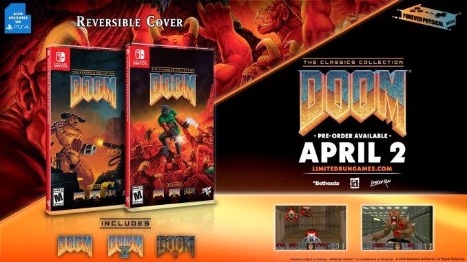 """Das Bild zeigt die Standard-Version von """"Doom: Classics Collection""""."""