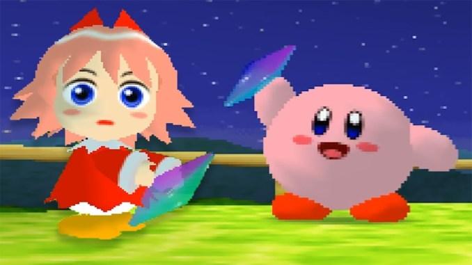 """Das Bild zeigt eine Szene aus dem Spiel """"Kirby 64: The Crystal Shards""""."""