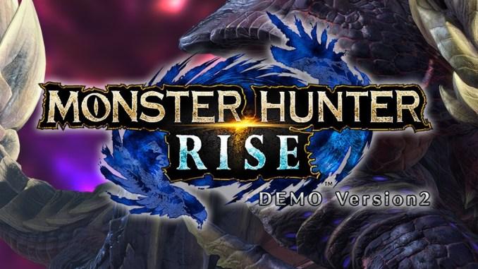 """Das Bild zeigt das Logo von """"Monster Hunter Rise""""."""
