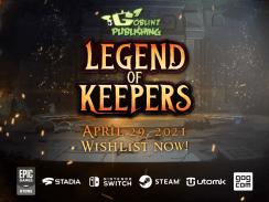 """Das Bild zeigt das Logo von """"Legend of Keepers""""."""