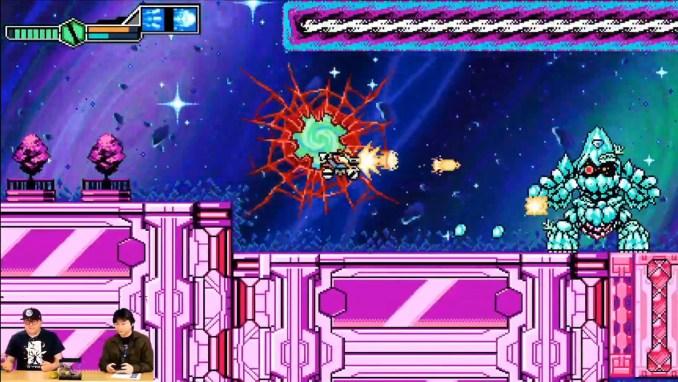 """Das Bild zeigt eine Szene aus """"Blaster Master Zero 3""""."""