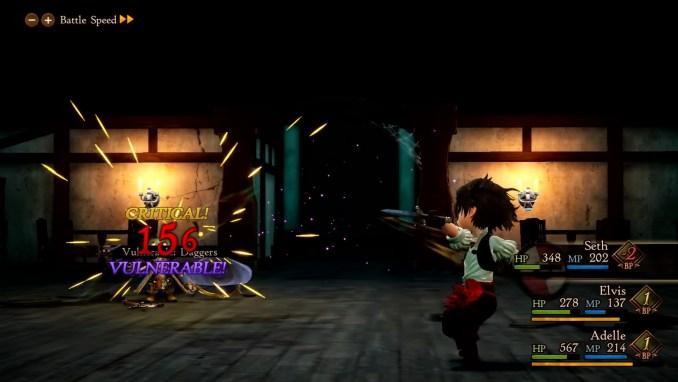"""Das Bild zeigt einen Kampf in """"Bravely Default II""""."""