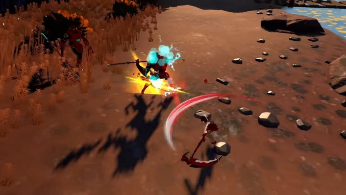 """Das Bild zeigt das Kampfgeschehen in """"RWBY: Grimm Eclipse - Definitive Edition""""."""