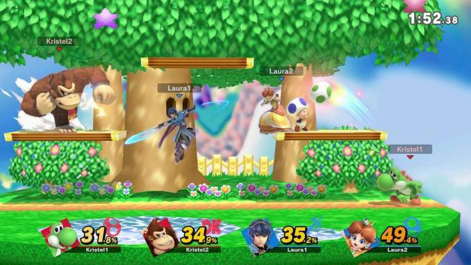 """Das Bild zeigt eine Szene aus dem Spiel """"Super Smash Bros. Ultimate""""."""