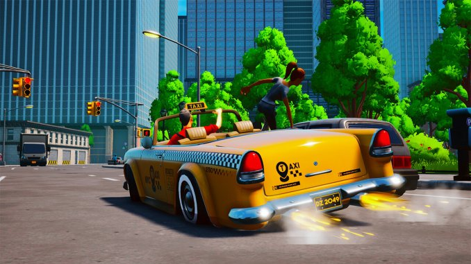"""Das Bild zeigt ein besseres Fahrzeug in """"Taxi Chaos""""."""