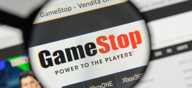 Das Bild zeigt das GameStop-Logo. Reggie Fils-Aime ist dort noch im Vorstand vertreten.