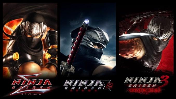 Das Bild zeigt drei Titelbilder aus den Spielen Ninja Gaiden Sigma, Ninja Gaiden Sigma 2 und Ninja Gaiden 3: Razor's Edge