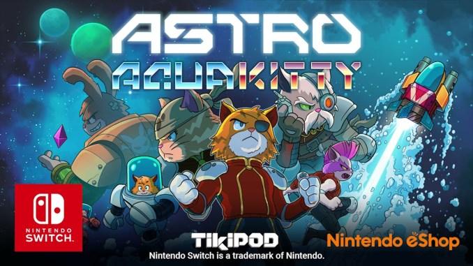 """Das Bild zeigt das Logo von """"ASTRO AQUA KITTY""""."""