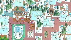 Das Bild zeigt einen Freizeitpark im Winter aus dem Spiel Let'S Build A Zoo