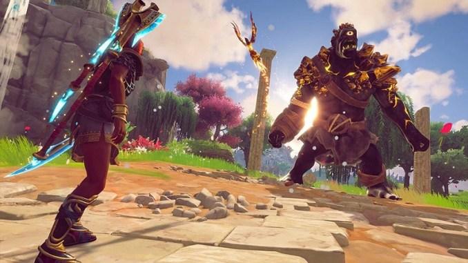 """Das Bild zeigt ein Artwork zu dem Spiel """"Immortals Fenyx Rising""""."""