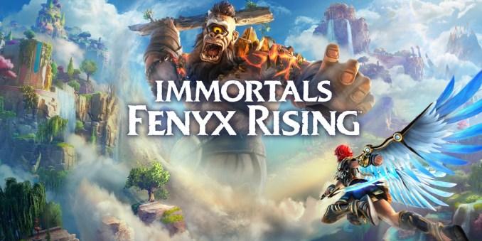 """Das Bild zeigt das Logo von """"Immortals Fenyx Rising""""."""
