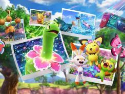 """Das Bild zeigt ein Artwork zum Spiel """"New Pokémon Snap""""."""
