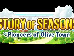 """Das Bild zeigt das Logo des Spiels """"STORY OF SEASONS: Pioneers of Olive Town""""."""