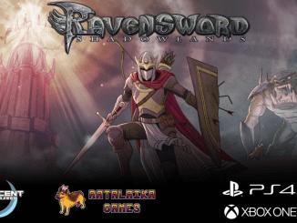 """Das Bild zeigt das Logo von """"Ravensword: Shadowlands""""."""