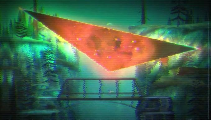 """Das Bild zeigt ein geöffnetes Portal in """"Oxenfree II: Lost Signals""""."""