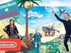 Das Bild zeigt die YouTube-Serie Nintendo Minute mit dessen Moderatoren