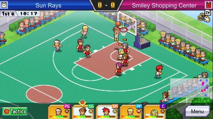 """Das Bild zeigt eine Szene aus dem Spiel """"Basketball Club Story""""."""