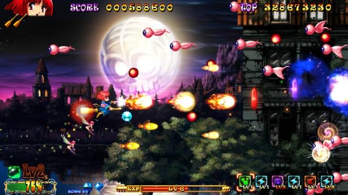 Das Bild zeigt ein Gameplay aus dem Spiel Cotton Reboot