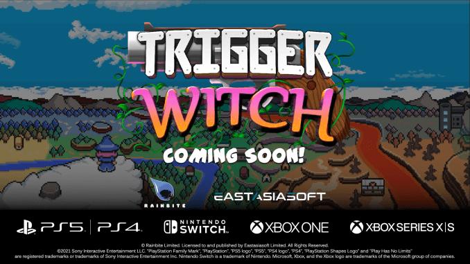 """Das Bild zeigt das Logo von """"Trigger Witch""""."""
