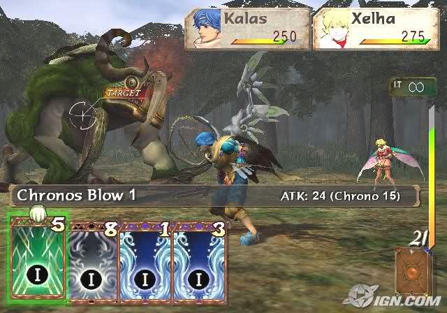 """Das Bild zeigt einen Kampf in """"Baten Kaitos""""."""