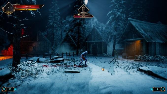 """Das Bild zeigt den Krieger in einer kalten Umgebung aus """"Demon Skin"""""""