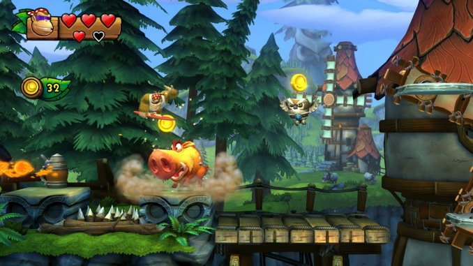 """Das Bild zeigt Funky Kong in """"Donkey Kong Country: Tropical Freeze""""."""