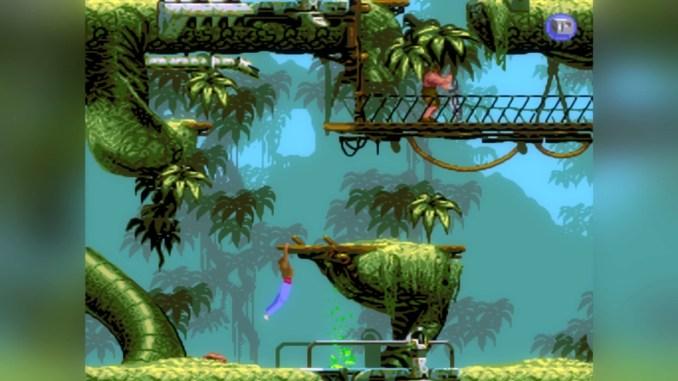 """Das Bid zeigt das Gameplay aus dem Spiel """"Flashback"""" aus dem Jahr 1992."""
